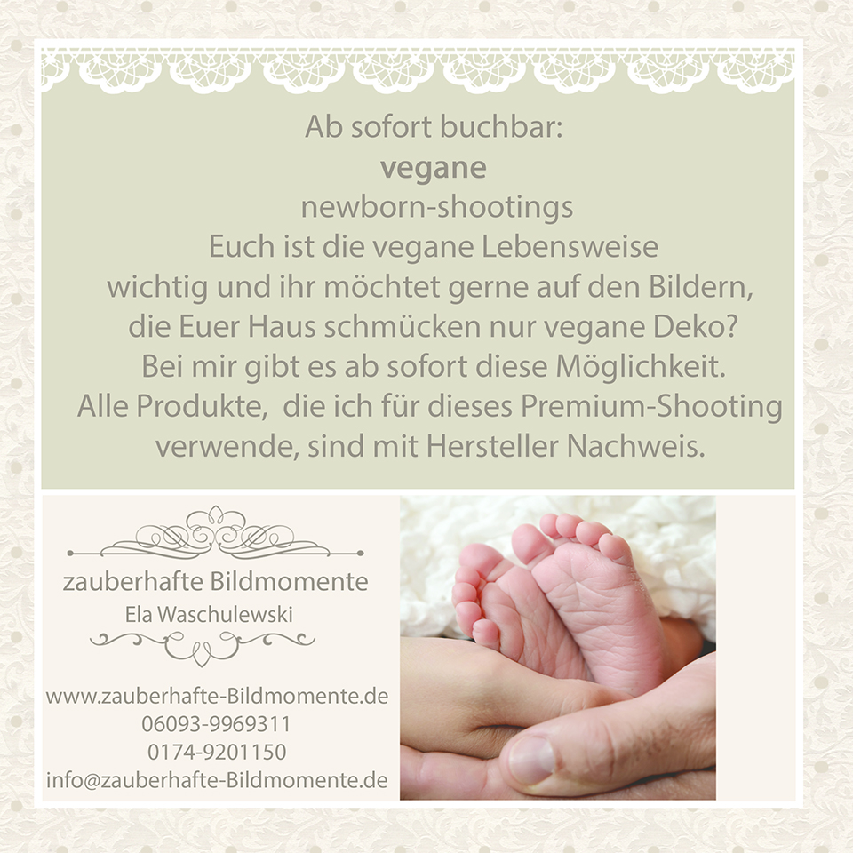 vegane Neugeborenenbilder